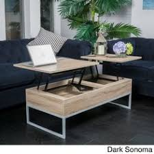 Lift Top Wood Storage Coffee Table By Christopher Knight Home (Dark Sonoma),