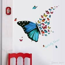 decorative wall stickers 3d fly