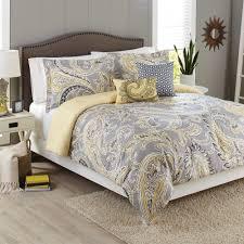 better homes and gardens 5 piece comforter set yellow grey paisley com