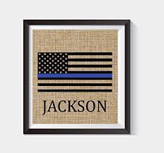 thin blue line flag personalized police officer gift american flag stars and stripes