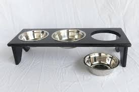 dog bowls with stand s reclaimed wood dog bowl stand