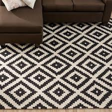 jillian hand tufted wool black area rug reviews joss main pertaining to and cream rugs ideas