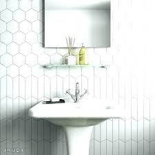 white hexagon tile bathroom fanciful ideas black and best on shower hex floor large