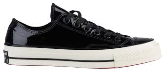 converse redbottoms redsoles dressy sneakers black athletic image 4 12345
