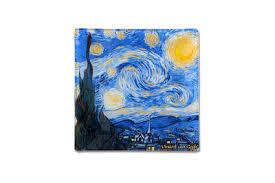 <b>Тарелка квадратная Звездная ночь</b> (Ван Гог) без инд.упаковки ...