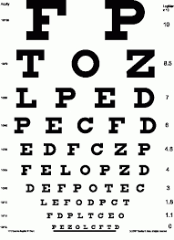 Standard Eye Test Chart Printable Vision Examination Chart