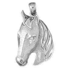 10k 14k or 18k gold horse head pendant