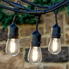 Lemontec Commercial Grade Outdoor String Lights Newhouse Lighting 48 Ft 2 Watt Outdoor Weatherproof Led