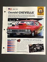 1971 Chevrolet Chevelle Color Poster Spec Sheet Original