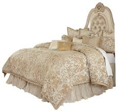 aico michael amini luxembourg 13 piece king comforter set creme