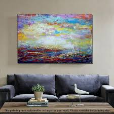 canvas prints for living room original wall art abstract landscape painting large art canvas art wall