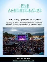 Pne Summer Concert Seating Chart Pne Amphitheatre