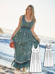 Plus Size Dress Patterns Awesome Maxi Dress Plus Size 4848 48 Sewing Patterns BurdaStyle