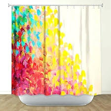colorful shower curtains. Modren Curtains Colorful Shower Curtains Elegant Blue Flower  Curtain Hooks And A