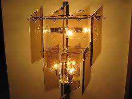 chandelier glass panel slanted rectangle beveled starburst etched
