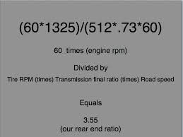 How To Calculate Your Rear End Ratio Lets Truck