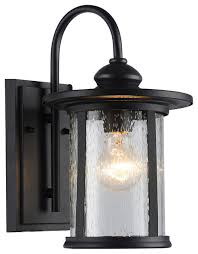 maia outdoor wall sconce textured black clear seedy cylinder lantern light sm traditional outdoor wall lights and sconces by edvivi llc