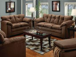 casual yet sophisticated the luna chocolate microfiber sofa and loveseat including couch and love seat
