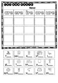 A collection of english esl worksheets for home learning, online practice, distance learning and english classes to teach about phonics, phonics. Are Ere Ire Ore Ure Sorts Cut And Paste Worksheets By Busy Bee Studio