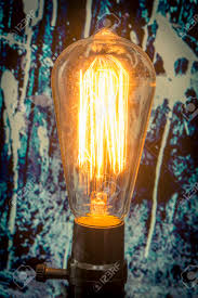 Amber Light Bulb Paint Decorative Antique Edison Style Filament Light Bulb With Spilled