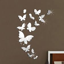 latest diy erfly mirror wall stickers for wall decor