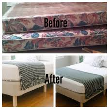 Decorative Box Spring Cover Making a box spring into the frame Only use some cute legs from 24