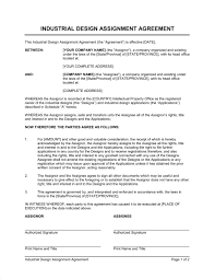 Industrial Design Assignment Agreement Template Word Pdf By