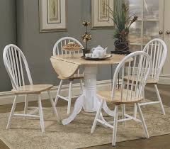 round dining table set with leaf homesfeed round white kitchen table set