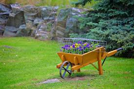 27 wheelbarrow flower planter ideas for