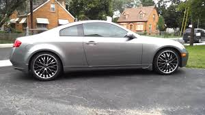 Infiniti G35 coupe with 20 inch lorenzo rims - YouTube