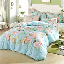 twin xl bedspread flower garden theme girl bedroom with fl printed bedding sets aqua blue twin xl bedspread