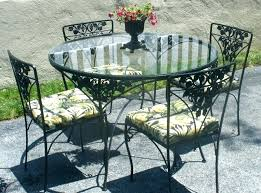 small patio table with umbrella hole interesting pendant in wrought iron and 4 chairs round outdoor