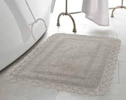 crochet bathroom rug laura ashley crochet cotton 17x24 in bath rug light grey round crochet bath crochet bathroom rug