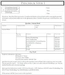 Payroll Pay Stub Template Paycheck Employee Templates Word