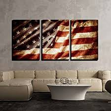 wall26 3 piece canvas wall art closeup of grunge american flag modern home on patriotic canvas wall art with amazon wall26 3 piece canvas wall art closeup of grunge