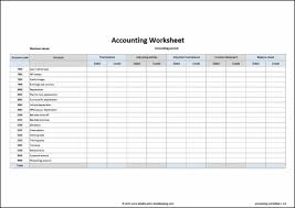 Accounting Worksheet Example Basic Accounting Spreadsheet Template Templates Resume