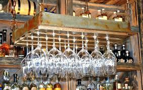 rustic wine bar bar indoor rustic wine barrel stave ceiling fan