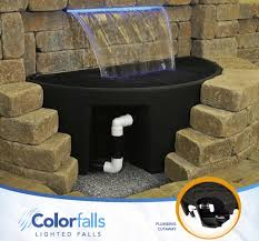 colorfalls lighted waterfalls for