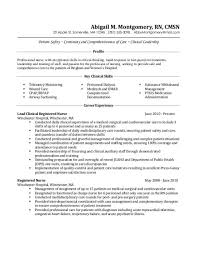Medical Surgical Nurse Resume Sample Samples Resume Templates And
