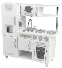 Play Kitchen Amazoncom Kidkraft Vintage Kitchen White Toys Games