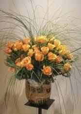contemporary rose arrangement