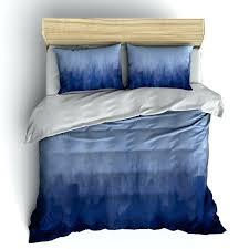 full image for navy blue duvet cover full navy blue watercolor bedding duvet cover or comforter
