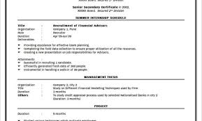 Ideas Of Formats Of Resumes For Freshers Best Simple Biodata Format