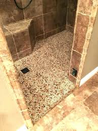 bathrooms sliced pebble tile shower floor s flat for bathrooms ideas pictures
