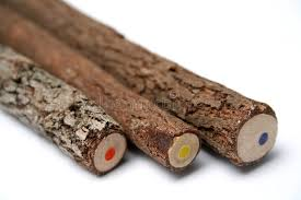Download Three Unusual Pencils With A Multi-coloured Core 2 Stock Image -  Image of