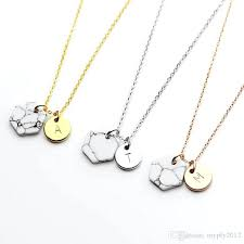 personalized rose pendant necklace a liked on featuring jewelry necklaces initial charm gold plated uk