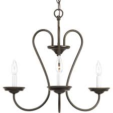 three light antique bronze white candle sleeves glass candle chandelier