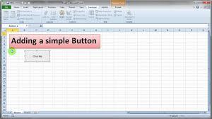 Excel 2010 Design Mode Adding A Simple Vba Button To Excel