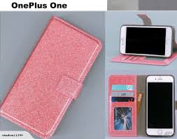 oneplus one case luxury bling glitter leather 3 cards w id pink trade me