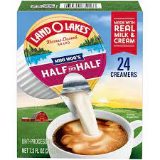 Coffee with milk adds a significant amount of calories based on the type of milk you use. Land O Lakes Mini Moo S Half Half Liquid Coffee Creamer Singles Shop Coffee Creamer At H E B